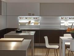 Cucina componibile lineare in alluminio senza maniglie B3 | Cucina in alluminio - b3