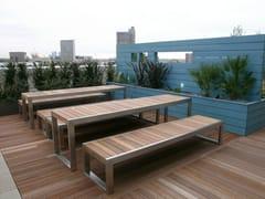 Panchina in acciaio inox e legno SKOP | Panchina - Skop
