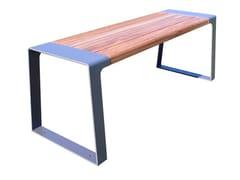 Tavolo da picnic in acciaio e legno MURTON | Tavolo per spazi pubblici - Murton