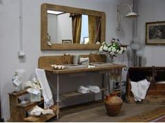 Mobile lavabo da terra doppio in legnoROMARIN - BLEU PROVENCE