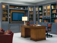 Libreria in legno massello in stile veneziano con porta tv LE STANZE DEL DOGE   Libreria con porta tv - Le Stanze del Doge