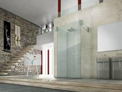 Box doccia in vetro ICONA SEPARÈ PARETE - Icona