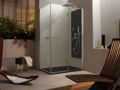 Box doccia angolare rettangolare con porta a battente WELLDREAM | Box doccia rettangolare - Welldream