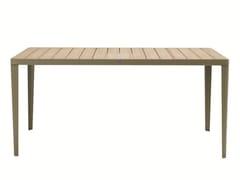 Tavolo da giardino rettangolare in teak LAREN | Tavolo rettangolare - Laren
