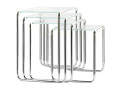 Tavolino in acciaio e vetro B 9 | Tavolino in acciaio e vetro - B 9