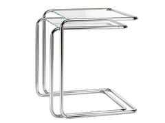 Tavolino di servizio impilabile in acciaio e vetro B 97 | Tavolino in acciaio e vetro - B 97