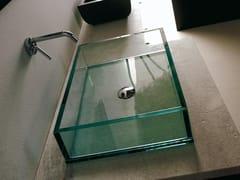 Lavabo da appoggio rettangolare in vetro COMPOS | Lavabo rettangolare - Compos