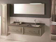 Mobile lavabo laccato sospesoCHARME 4 - BLEU PROVENCE