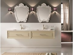 Mobile lavabo doppio con specchioCHARME 5 - BLEU PROVENCE