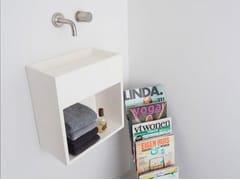 Lavamani sospeso in Solid Surface con porta asciugamaniCOCOON SANT JORDI II - COCOON