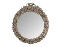 BLEU PROVENCE, ROSE Specchio rotondo in legno con cornice