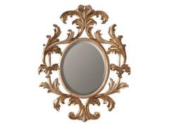 BLEU PROVENCE, LOTUS Specchio ovale in legno con cornice