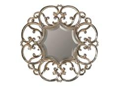 BLEU PROVENCE, IRIS Specchio in legno da parete con cornice