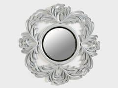 BLEU PROVENCE, LILAS Specchio rotondo in legno con cornice