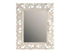 BLEU PROVENCE, MAUVE Specchio rettangolare in legno con cornice