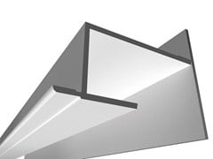 Profilo per illuminazione lineare per moduli LED USP 03 15 25 - Soft Collection - Linear