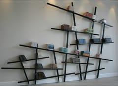 Libreria a giorno a parete laccataMIKADO - COMPAGNIE