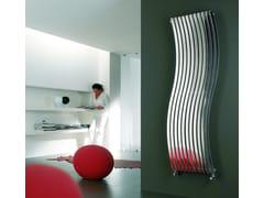 Termoarredo ad acqua calda in acciaio lucido a parete LOLA VT - Inox