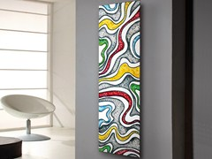 Termoarredo verticale in acciaio al carbonio a parete FRAME CORALLO - Picture