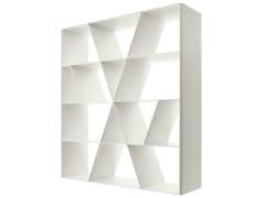 Libreria a giorno bifacciale in Corian® SHELF X - Shelf