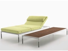 Lettino da giardino reclinabile in tessuto SPRINGTIME | Lettino da giardino - Springtime