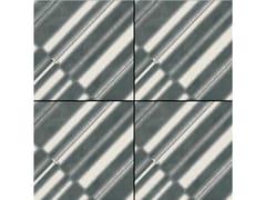 Pavimento/rivestimento in gres porcellanato smaltato AZULEJ NERO DIAGONAL - AZULEJ