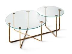 Tavolino doppio in cristalloCONNECTION | Tavolino rotondo - GALLOTTI&RADICE