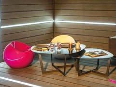 Schermo divisorio da giardino luminoso in legno composito LAMA PER RECINZIONI LED -