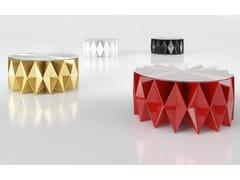 Tavolino basso rotondo in alluminio e vetroCOLLETTO - ALTREFORME