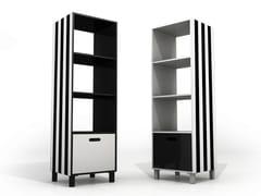Libreria a giorno bifacciale in alluminio con cassettiSIMBOLO | Libreria - ALTREFORME