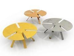 Tavolino basso rotondo in alluminioPACE | Tavolino - ALTREFORME