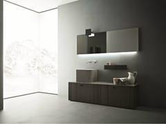 Arredo bagno completo in legnoCRAFT - COMPOSIZIONE N01 - NOVELLO