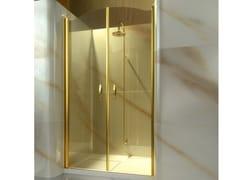 Box doccia a nicchia su misura in vetro temperato GOLD AD - Gold