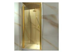 Box doccia a nicchia su misura in vetro temperato GOLD AL - Gold