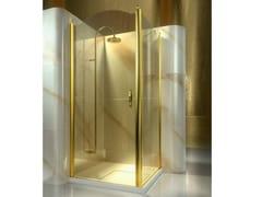 Box doccia angolare su misura in vetro temperato GOLD AL+FD - Gold