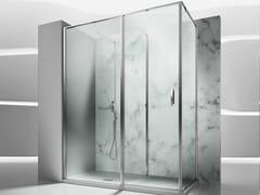 VISMARAVETRO, IN 2 Box doccia angolare in vetro temperato