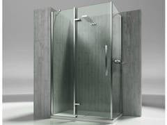 Box doccia angolare su misura in vetro temperato TIQUADRO QA+QF - Tiquadro