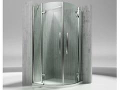 VISMARAVETRO, TIQUADRO QT Box doccia angolare semicircolare in vetro temperato