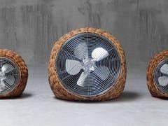 Gervasoni, WIND L Ventilatore da terra intrecciato in giunchino tigrato