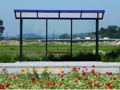 Pensilina in acciaio e vetro per fermata autobus SKANDUM -