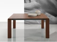 Tavolo quadrato in legno impiallacciato DOLMEN DUE | Tavolo quadrato -