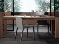 Tavolo rettangolare in legno impiallacciato DOLMEN DUE | Tavolo rettangolare -