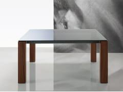 Tavolo quadrato in vetro DOLMEN DUE | Tavolo in vetro -