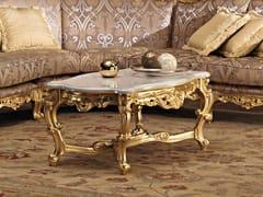 Tavolino basso rettangolare in legno massello 11615 | Tavolino - Villa Venezia