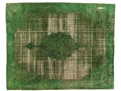 Tappeto vintage ricolorato DECOLORIZED GREEN - Carpet Reloaded