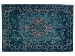 Tappeto vintage ricolorato DECOLORIZED BLUE - Carpet Reloaded