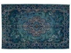 Tappeto vintage ricolorato DECOLORIZED BLUE - Carpet Reloaded