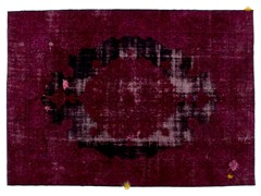 Tappeto vintage ricolorato DECOLORIZED MOHAIR WINE - Carpet Reloaded