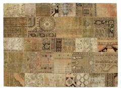 Tappeto patchwork vintage ricolorato PATCHWORK BEIGE - Carpet Reloaded