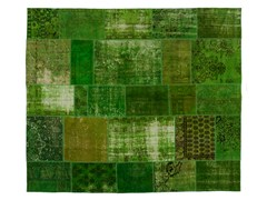 Tappeto patchwork vintage ricolorato PATCHWORK GREEN - Carpet Reloaded